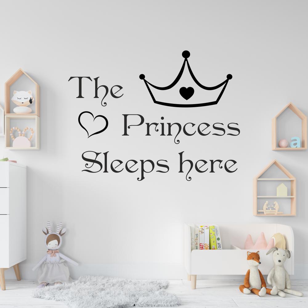 Sienos lipdukas The Princess Sleeps here